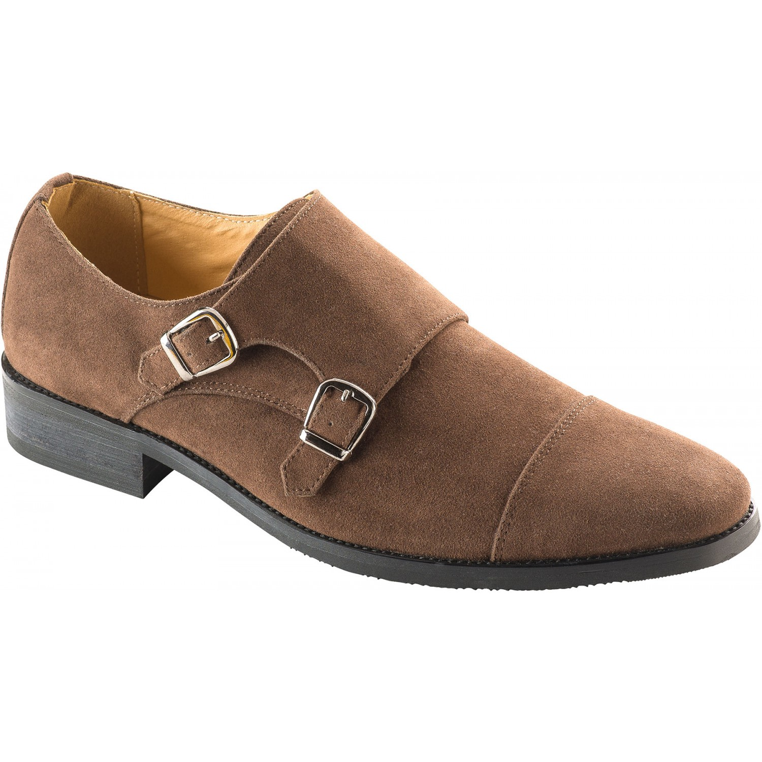 rown Double Monk Strap Dress Shoe